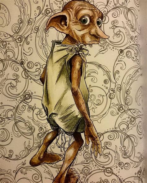 harry potter dobby coloring pages harrypottercoloringbook adultcoloring dobby