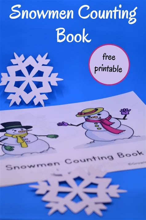27 winters and counting books snowmen counting book free printable