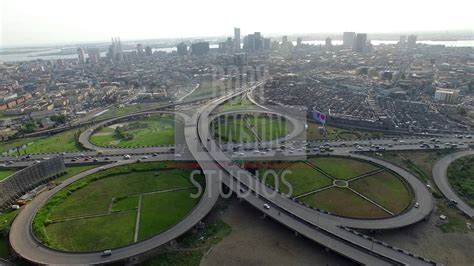 aerial view of lagos island