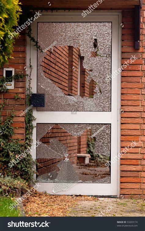 broken glass door images broken glass in the door stock photo 53203174