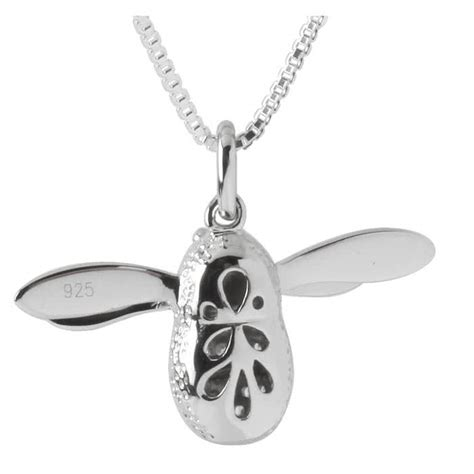 bumble bee sterling silver pendant set with cz