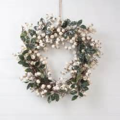 Large Metal Planters by White Snow Berry Christmas Wreath By The Christmas Home