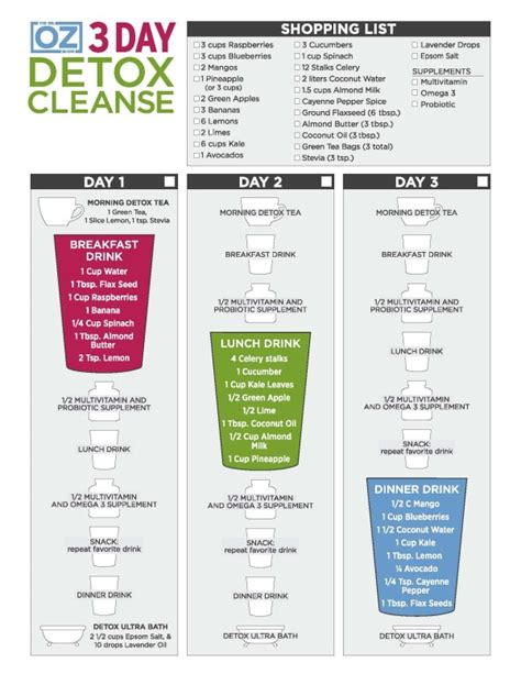 11 Day Detox by Dr Oz 3 Day Detox Cleanse