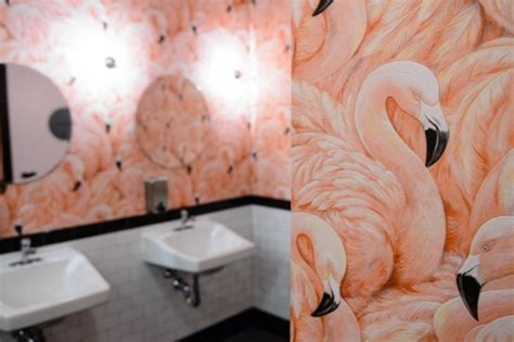 flamingo wallpaper toilet flamingo wallpaper flamboyant eye catching