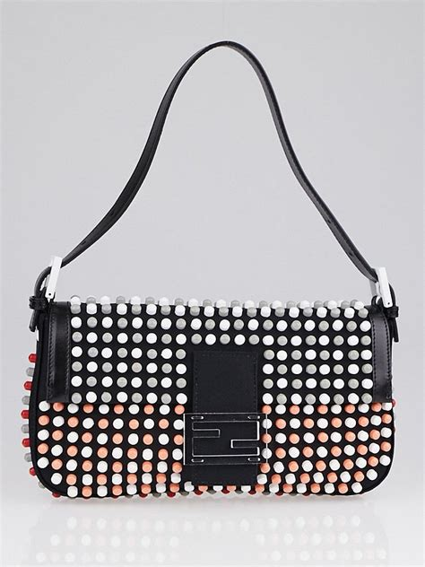 Tas Fendi By The Way Stud Multicolor Semprem 3231 A273 fendi black canvas multicolor stud applique bowl baguette bag 8br600 yoogi s closet