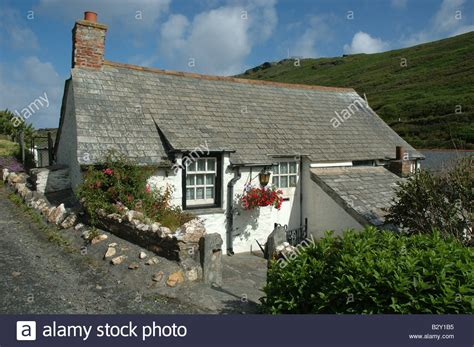exterior of country cottage boscastle cornwall uk stock photo royalty free image
