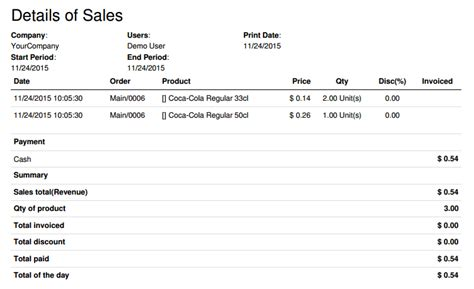 sle of statistical report getting daily sales statistics odoo 9 0 documentation