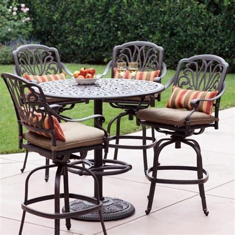 Patio Furniture Table And Chairs Set Furniture Counter Height Outdoor Dining Sets Polywood Captain Hi Top Table Bar Height Patio