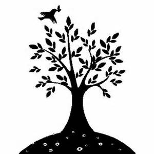 Mustard Seed Tree Coloring Page Parable Clipart  sketch template