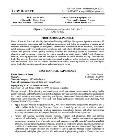 federal resume exles federal resume template 10 free sles exles