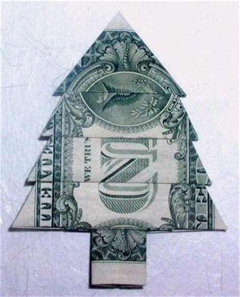 fold dollar into christmas tree hecht s web site origami gallery