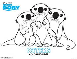 otter coloring pages finding dory coloring pages and activity sheets debt