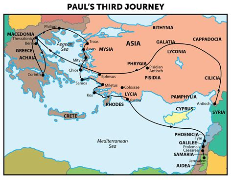 Journeys Out Of The paul s third journey map check out the bible