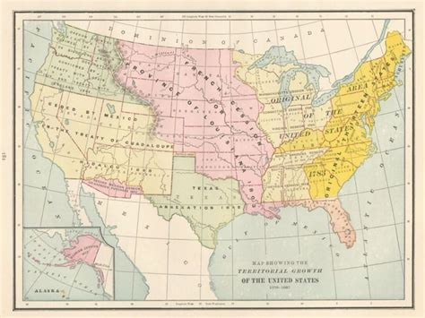 map of the united states in 1776 map showing the territorial growth of the united states