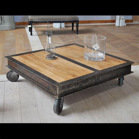 Table En Fer Industriel by Table Basse Style Industriel En Fer Et Bois Mont 233 Sur