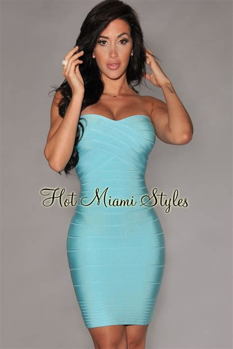 Home Design Center Miami by Aqua Strapless Bandage Dress