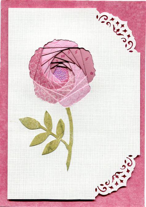 Iris Card Templates by Iris Folding Flower Fabric Folding