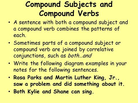 diagramming subjects and verbs diagram compound verb image collections how to guide and