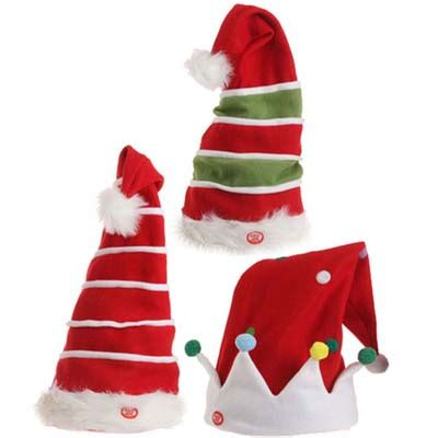 animated christmas tree hats animated musical santa claus and