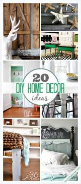 home decor diys 20 diy home decor ideas the 36th avenue