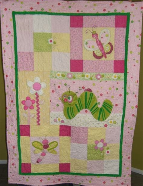 quilt pattern for baby girl bug quilt pattern for baby girl patchwork applique