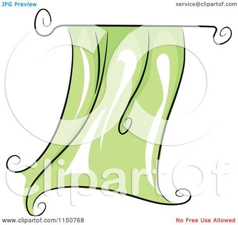 a curtain of green sparknotes cartoon of a flapping green curtain royalty free vector