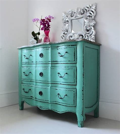 Vintage Style Drawers by Vintage Style Turquoise Chest Of Drawers By Out There