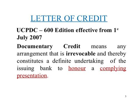 Letter Of Credit Utilization Letter Of Credit
