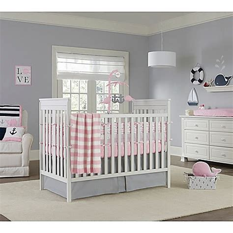 Nautica Kids 174 Mix Match Crib Bedding Collection In Pink Matching Crib And Bedding