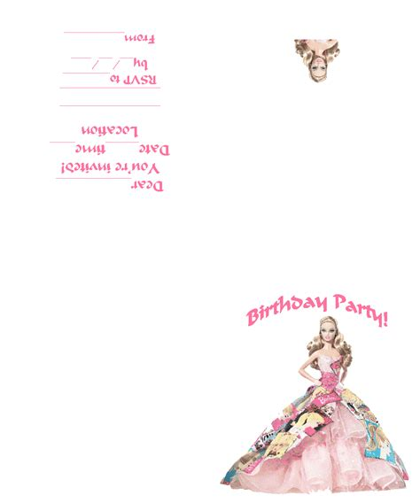printable birthday invitations foldable barbie coloring pages bollywood indian barbie free