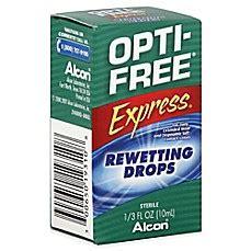 alcon® opti free® express contact lenses rewetting drops