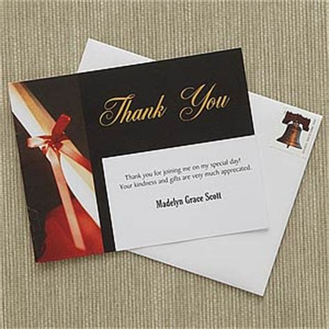 Thank You Card For Graduation Gift - personalized graduation thank you cards diploma graduation gifts
