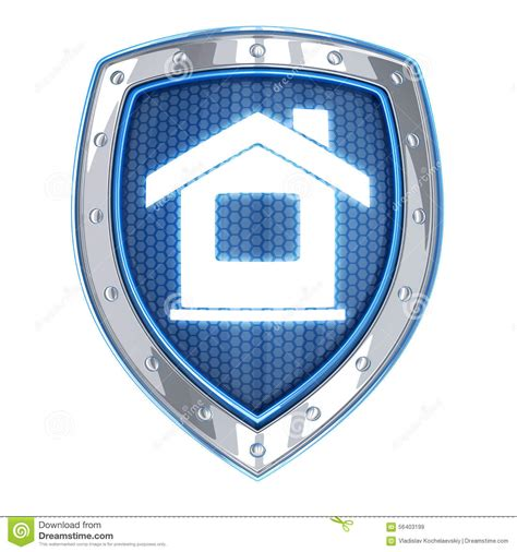 home and shield stock illustration image 56403199