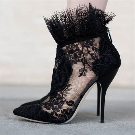 25 best ideas about black lace shoes on black