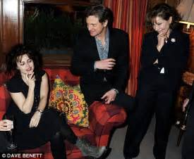 colin firth rubs shoulders with the downton abbey girls at