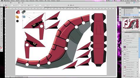 Groudon Papercraft - papertoy groudon pok 233 mon cube fusion toys