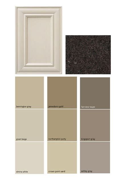 Paint Palate Dark Granite Off White Cabinets