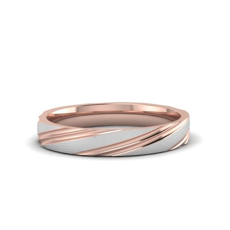 Two Tone Gold Wedding Band - two tone wedding bands