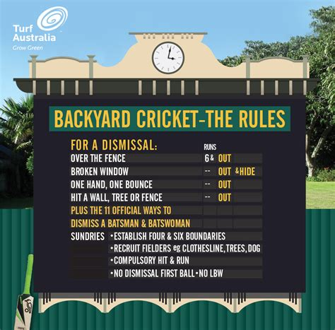 backyard cricket rules 3 steps to a winning backyard cricket pitch motherpedia