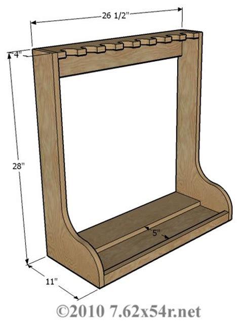 vertical wall gun rack plans plans diy free