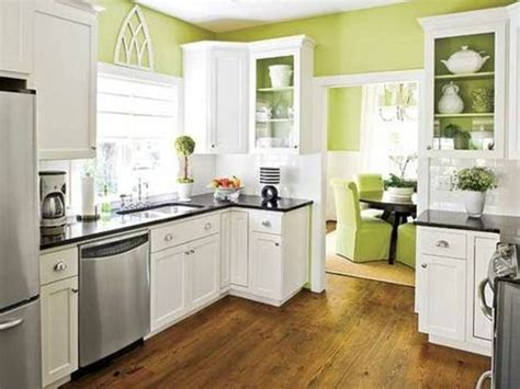 green kitchen color schemes white kitchen cabinets green walls kitchen and decor