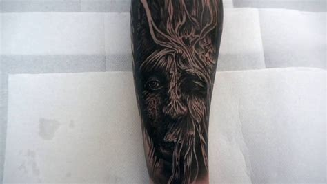 black and grey tattoo youtube tree creature forearm tattoo black and grey youtube