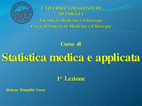 statistica medica dispense statistica medica introduzione alla statistica