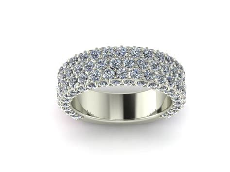 wedding bands no diamonds wide pave wedding band shapiro diamonds