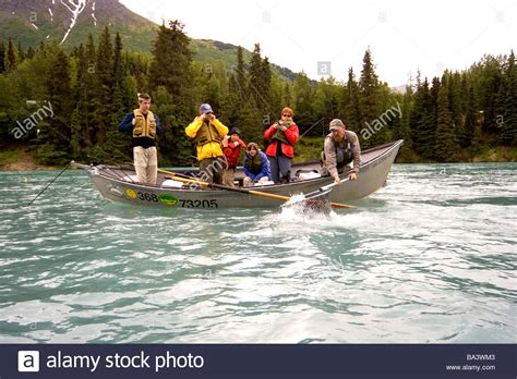 drift boat kenai river kenai river guide stock photos kenai river guide stock