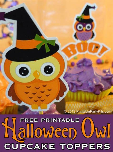 free printable halloween owl halloween owl cupcake topper printables edible crafts