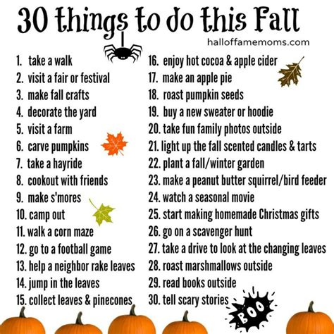 30 fun things to do this fall create a fall bucket list