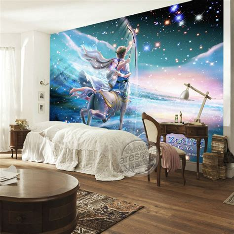 bedroom wall mural aliexpress com buy sagittarius photo wallpaper charming