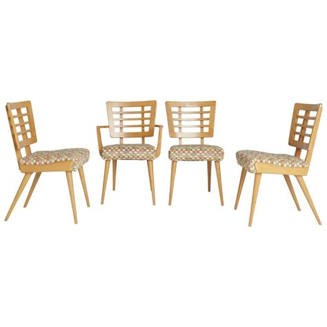 maple dining chairs 1950s american modern maple dining chairs for sale at 1stdibs
