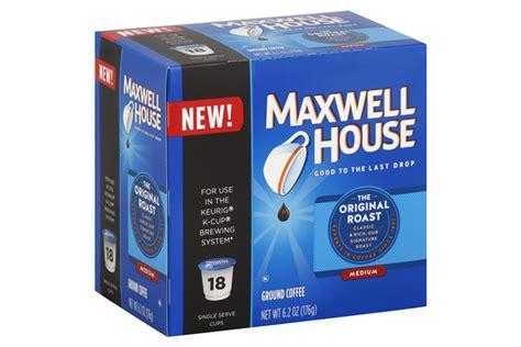 Maxwell House K Cups by Maxwell House Original Roast Coffee K Cup R Packs 18 Ct Box Kraft Recipes